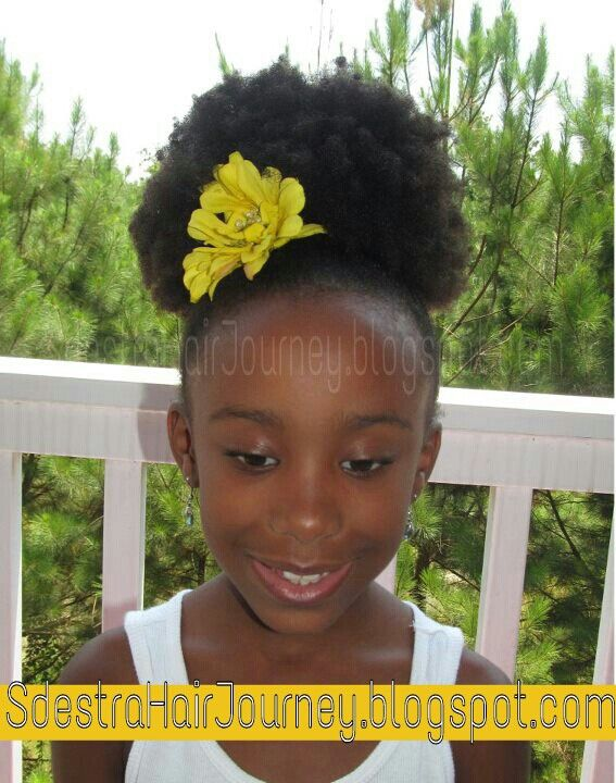 Simple, high ponytail puff | Natural Hair / Hairstyles | Natural hairstyles for kids, Natural ...