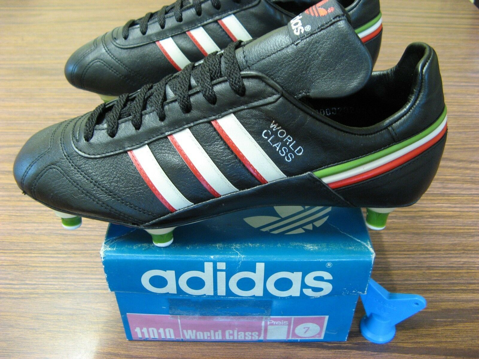 Vintage 1980 S Adidas World Class Football Boots Bnib Deadstock 1986 World Cup Ebay Football Boots Adidas Soccer Boots