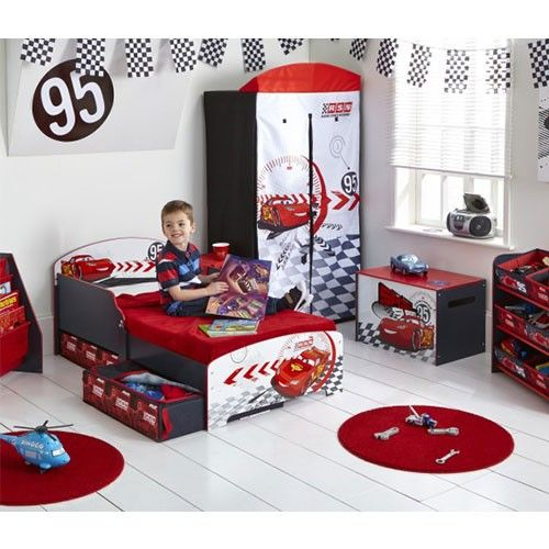Cars Speed Circuit Tidy Up Time Toy Box - Kids Licensed Furniture ...