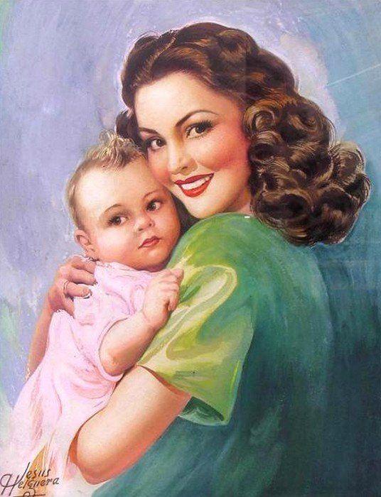 Открытки женщина-мать, просто так