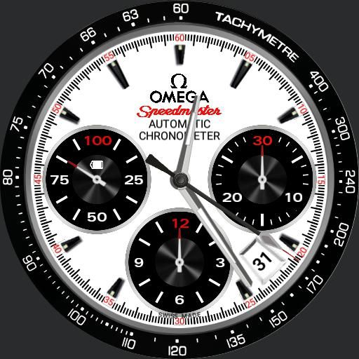 spdmaster white watch face preview | watch faces | Apple ...