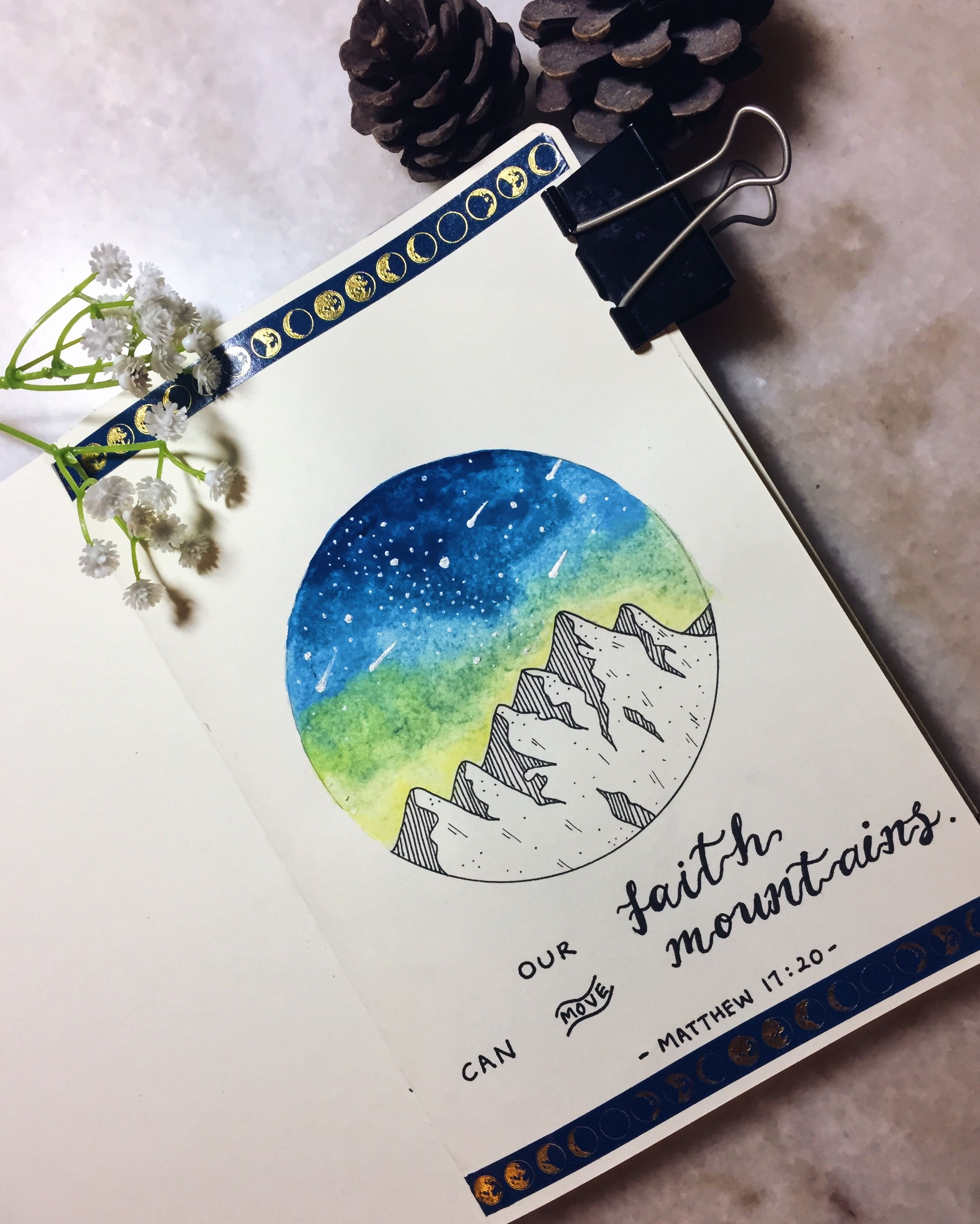 Watercolour Mountain Doodles Watercolor Mountains Watercolor