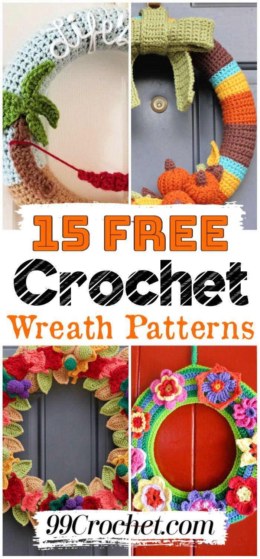 Photo of 15 Free Crochet Wreath Patterns