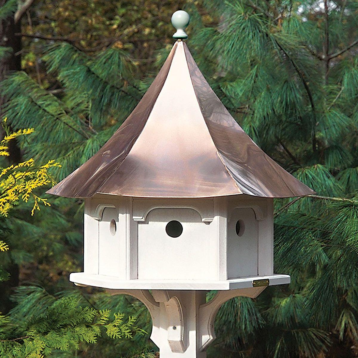 Large Outdoor Bird Houses.Carousel Birdhouse Copper Bird Houses Copper Roof Bird
