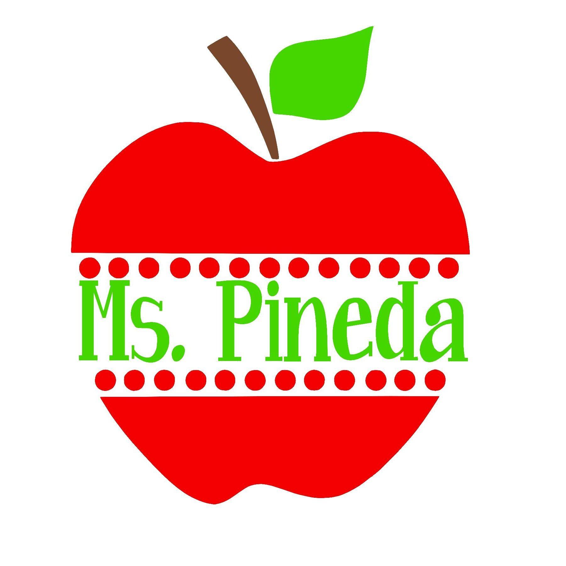 Customized Teacher Apple Decal by Buttercup Laine on Etsy