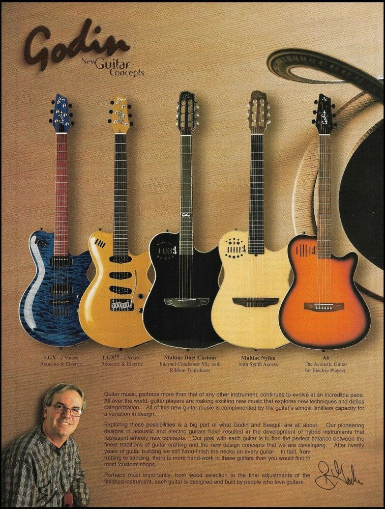 Pin On Godin Guitars Advertisements Ad Prints