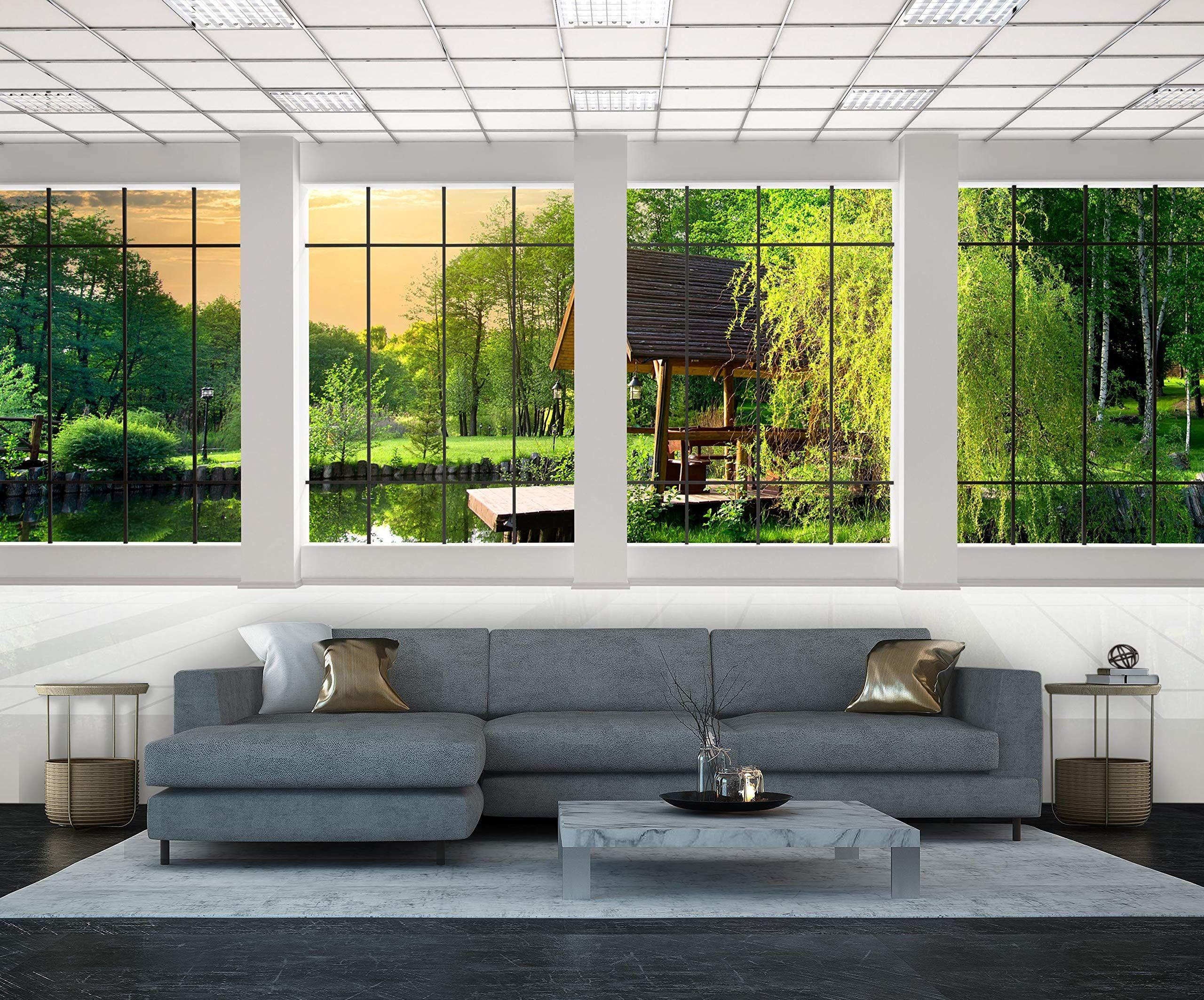 Wandmotiv24 Fototapete Fenster Fensterblick 3d Xxl 400 X 280 Cm 8 Teile Fototapeten Wandbild Motivtapeten V In 2020 Fototapete Fenster Fototapete Wohnzimmer Boden