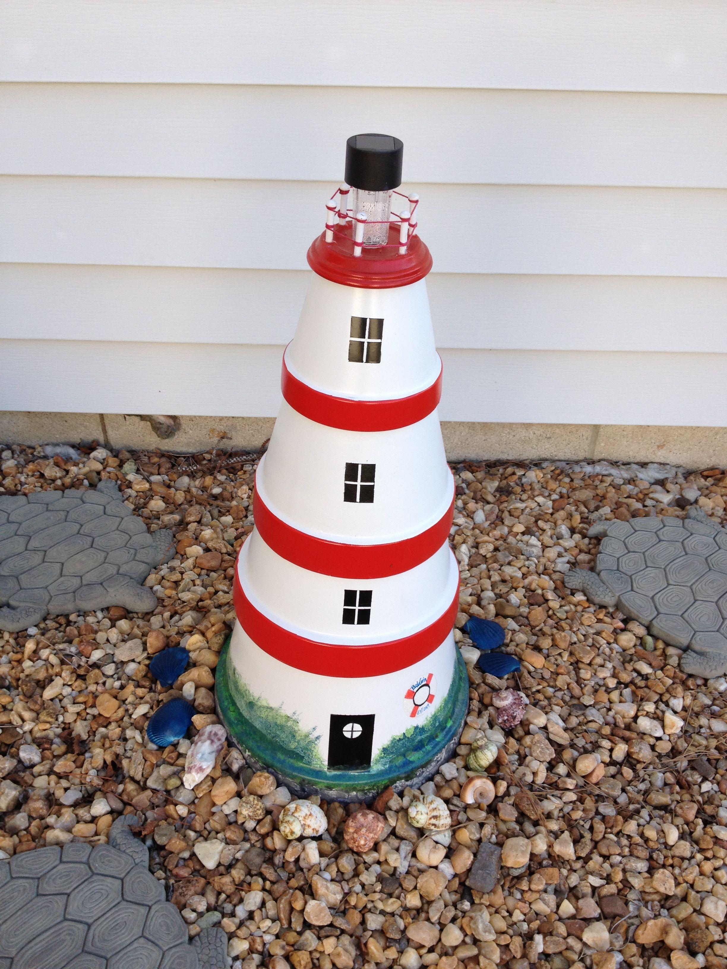 Diy make a clay pot lighthouse diy craft projects - Manualidades Con Macetas Para Decorar En Casa Lighthouse Craftclay Pot Lighthouseclay Pot Craftsdiy