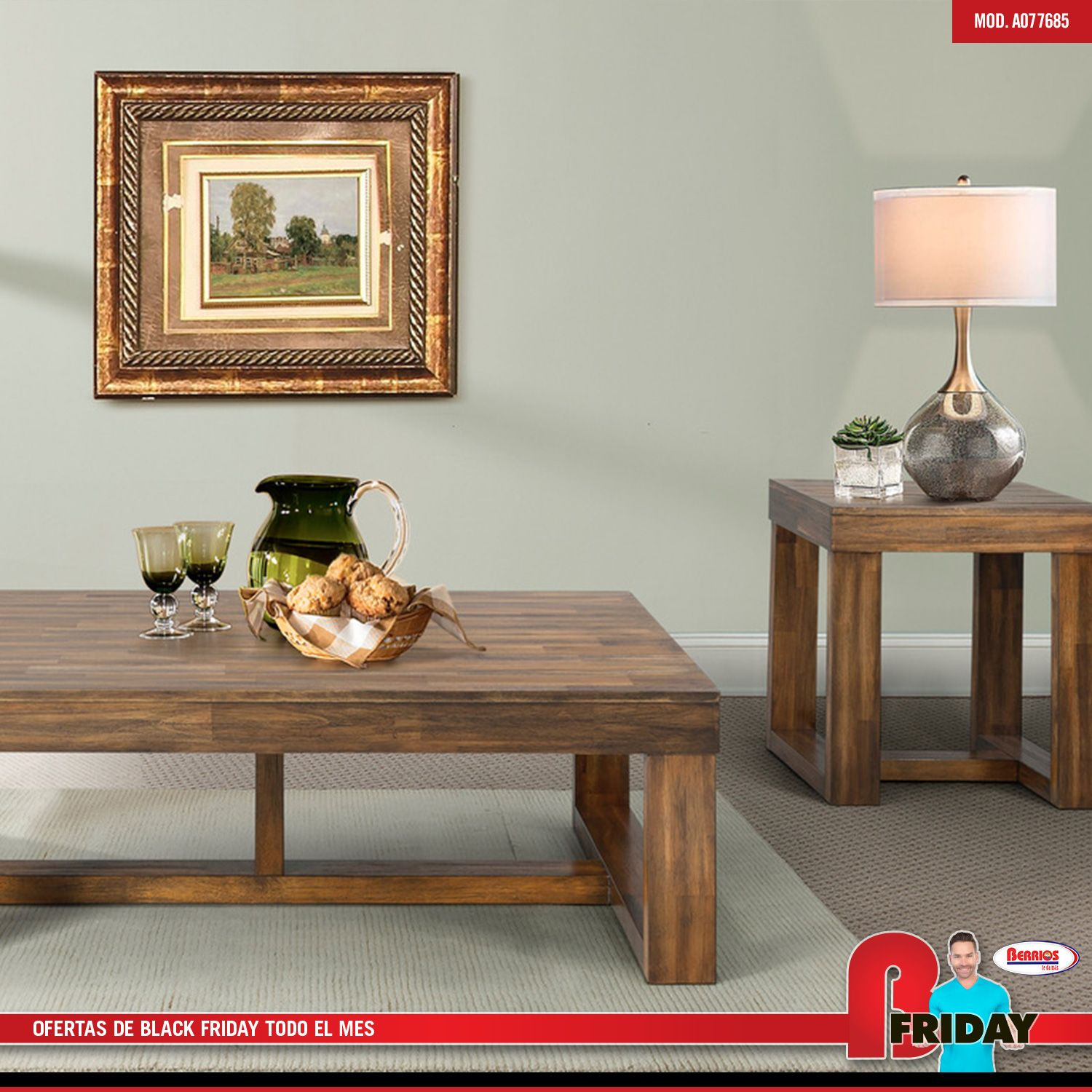 77685 3pk Stanley Wood Walnut Occasional Tables Coffee Table Table Home Decor
