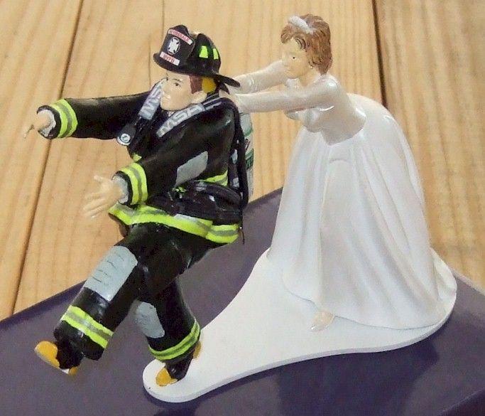 Seths Custom Models Firefighter Wedding Cake Topper BUT BUT
