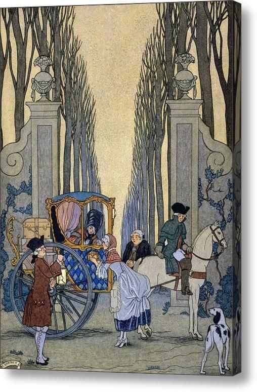 Illustration From Les Liaisons Dangereuses Acrylic Print By Georges Barbier Fairytale Art Illustration Fairytale Illustration