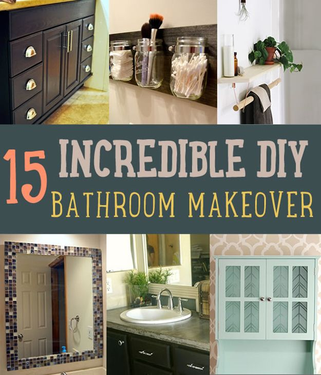 Inexpensive Bathroom Makeover: Bathroom Makeover Ideas You Can DIY