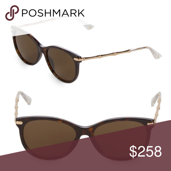 6665bbb41b969 Gucci Oval Sunglasses, Brown Frame with Gold Arm Oval sunglasses with logo  detail on temple