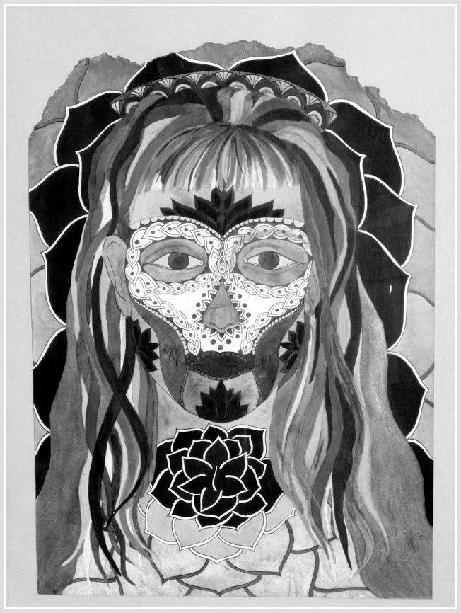Fotka - Fotky Google*Fotka - Fotky Google*MariJane 2002 jh,My selfie*portrait, Bar perokresba, reprofoto:@johanahajkova14  upraveno