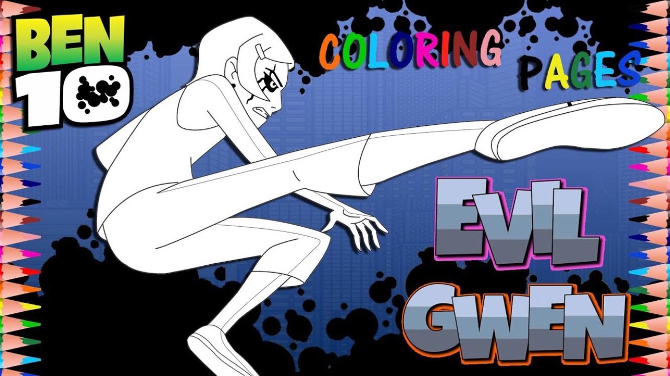 Ben 10 Classic Gwen Possessed By Ghostfreak Coloring Pages Coloring Pages Digital Artwork Coloring Tutorial