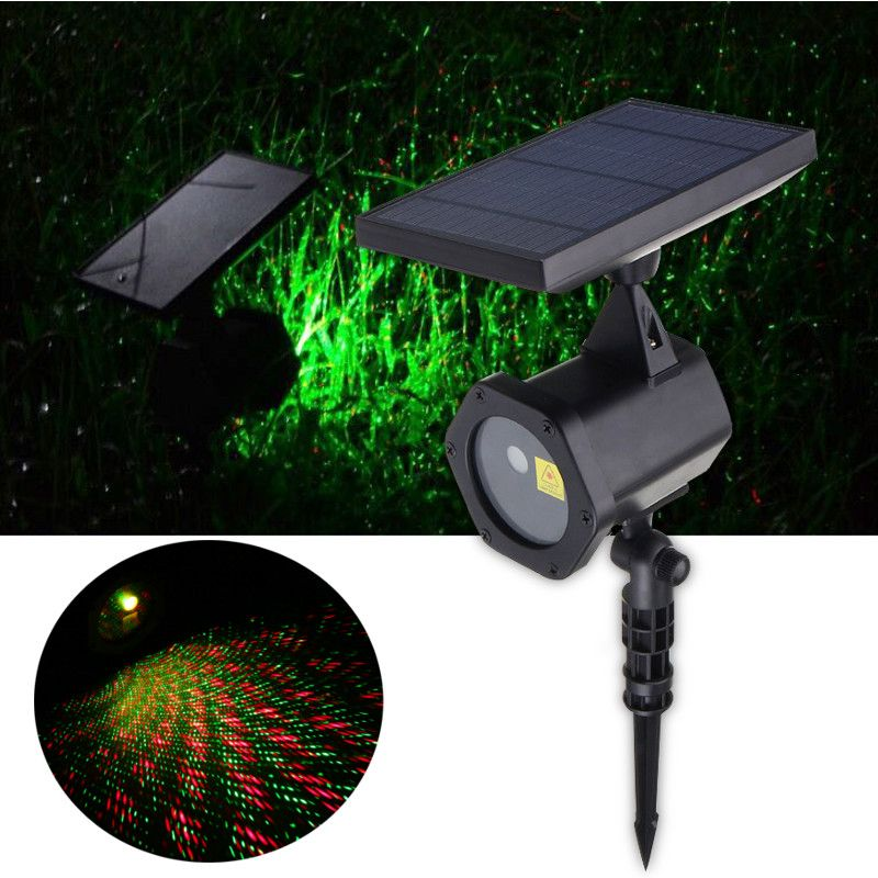 Solar Powered LED Lawn Light Lamp Flashing landscape Laser Light