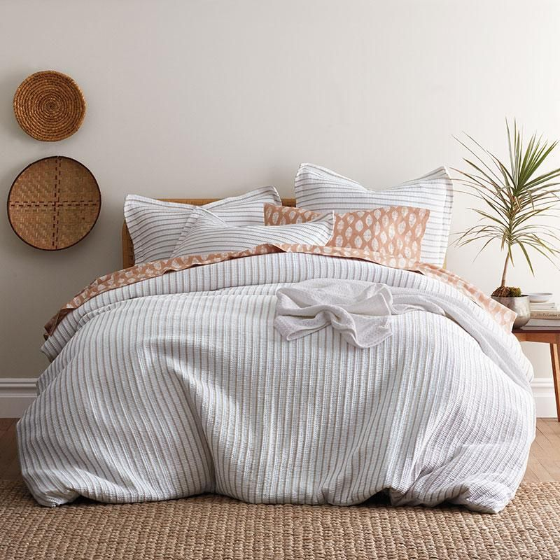 Orion Organic Cotton Percale Duvet Cover Full Taupe Ivory Brown The Company Store Duvet Covers Duvet Covers Twin Organic Cotton Duvet Cover
