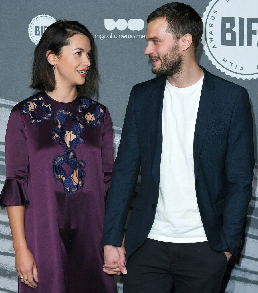 Jamie Dornan fifty Shades freed Darker model actor bifa 2016 Amelia warner
