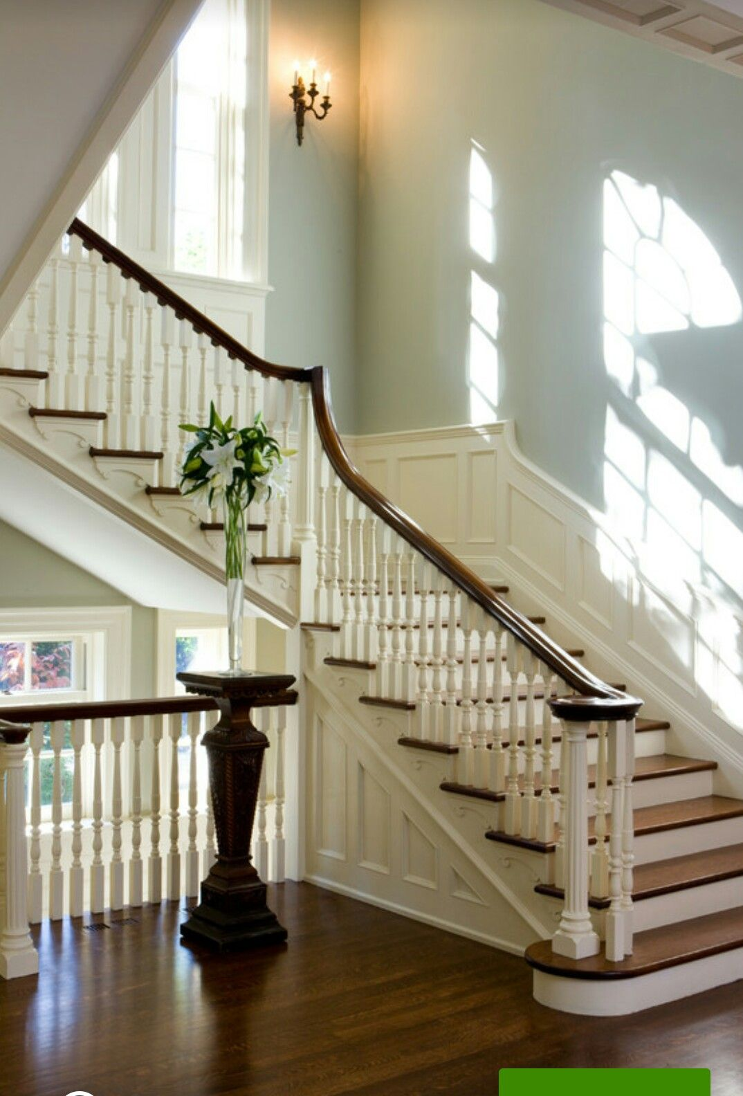 Best Restored Staircase In Georgian Colonial Home In Toronto Mahogany Rail Quarter Sawn Oak Floors 400 x 300