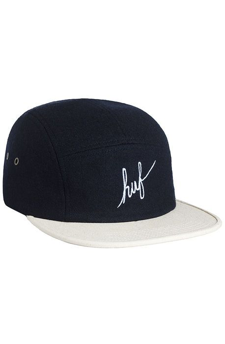 HUF Hat Wool Script Volley Wine Navy Blue - Karmaloop.com  5a692fd564f4