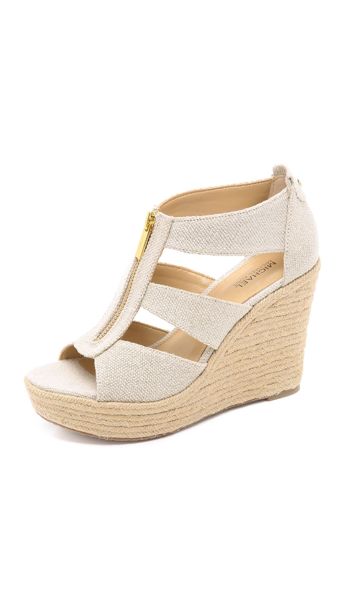 26971f3071b4 Michael Michael Kors Damita Wedge Sandals - Natural