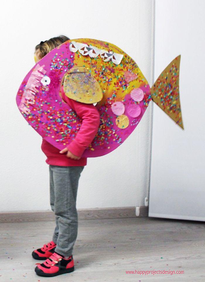 Carnaval con Collage: Peces de Colores