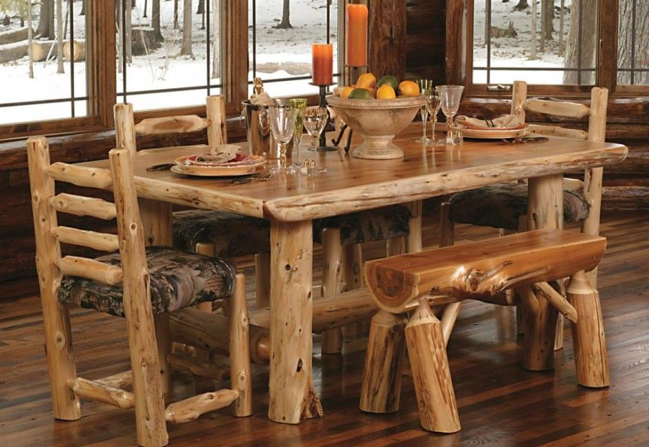 Rustic Kitchen Tables And Chairs In 2020 Rustic Kitchen Tables Rustic Kitchen Log Cabin Furniture