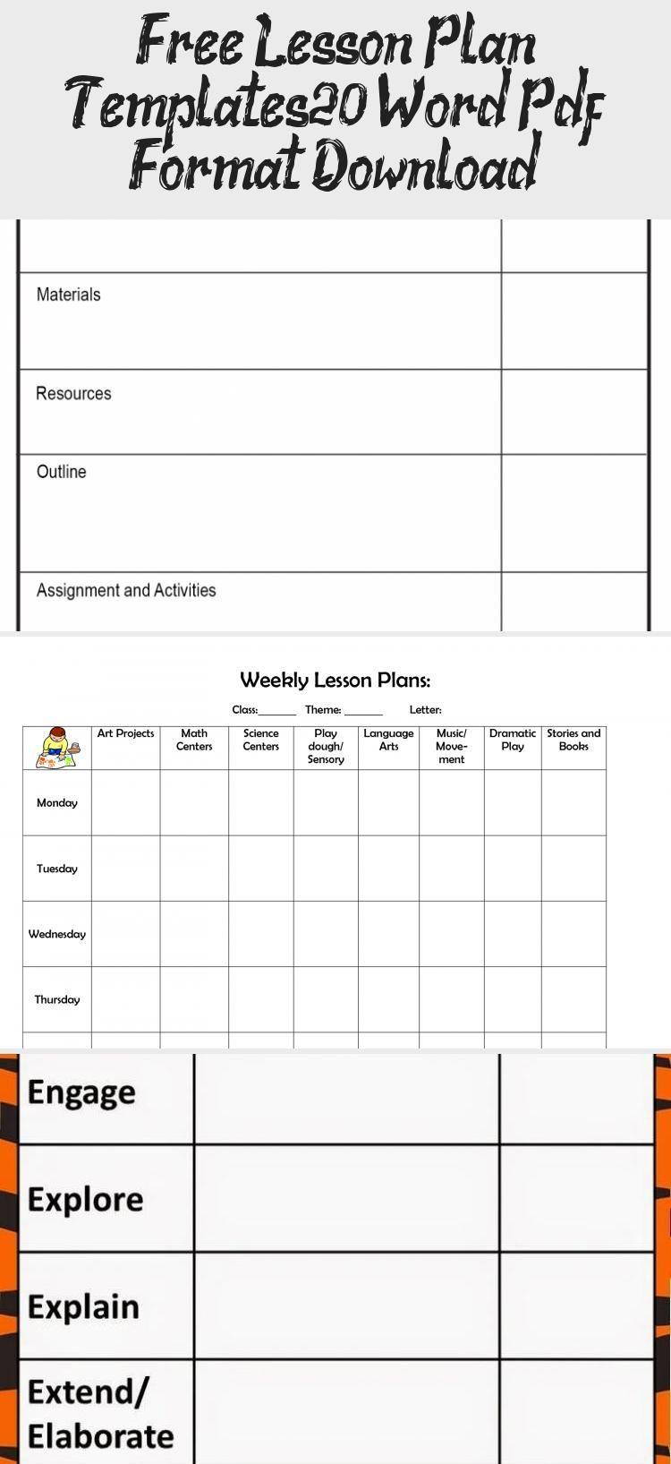 Free Lesson Plan Templates 20 Word Pdf Format Download Credit Score Lesson Plan Template Free Lesson Plan Templates Free Lesson Plans Lesson plan template free download