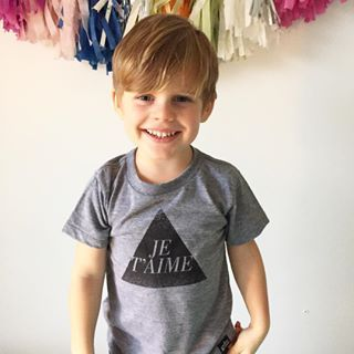 Whistle and Flute Je t'aime Tee at Little Heirloom