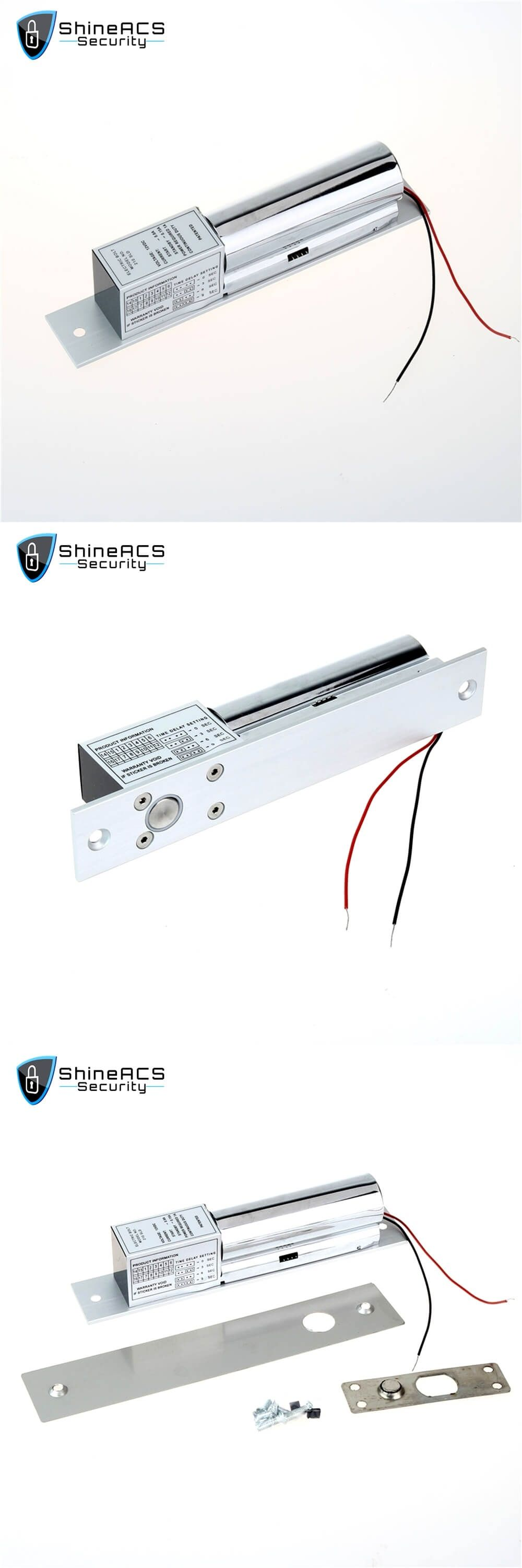 Electric Bolt Frameless Glass door lock SLE200S
