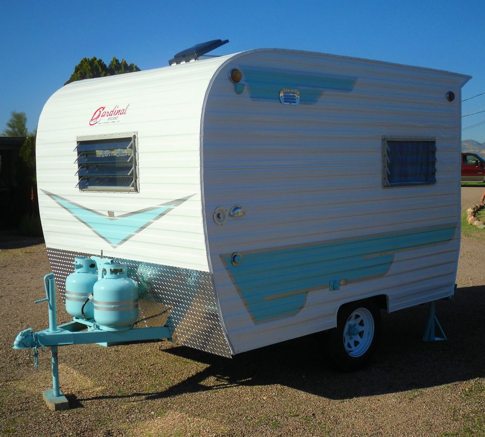 Travel Trailers With Outdoor Kitchens: 1971 Cardinal Deluxe Omg That Blue!!
