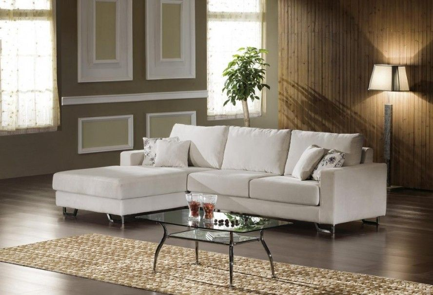 Living Room Design With Sectional Sofa Glass Coffee Table To Keep Small Space Looking Sweet And Sleek