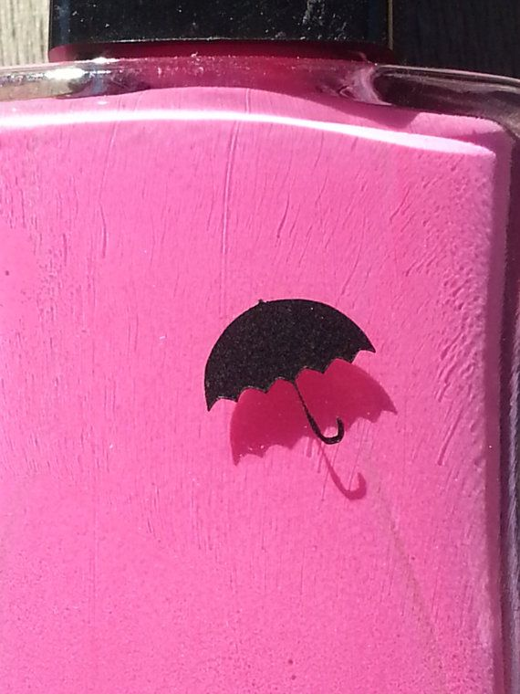 Umbrella nail art decal sticker set of 50 by SuperModCustomZ, $4.99