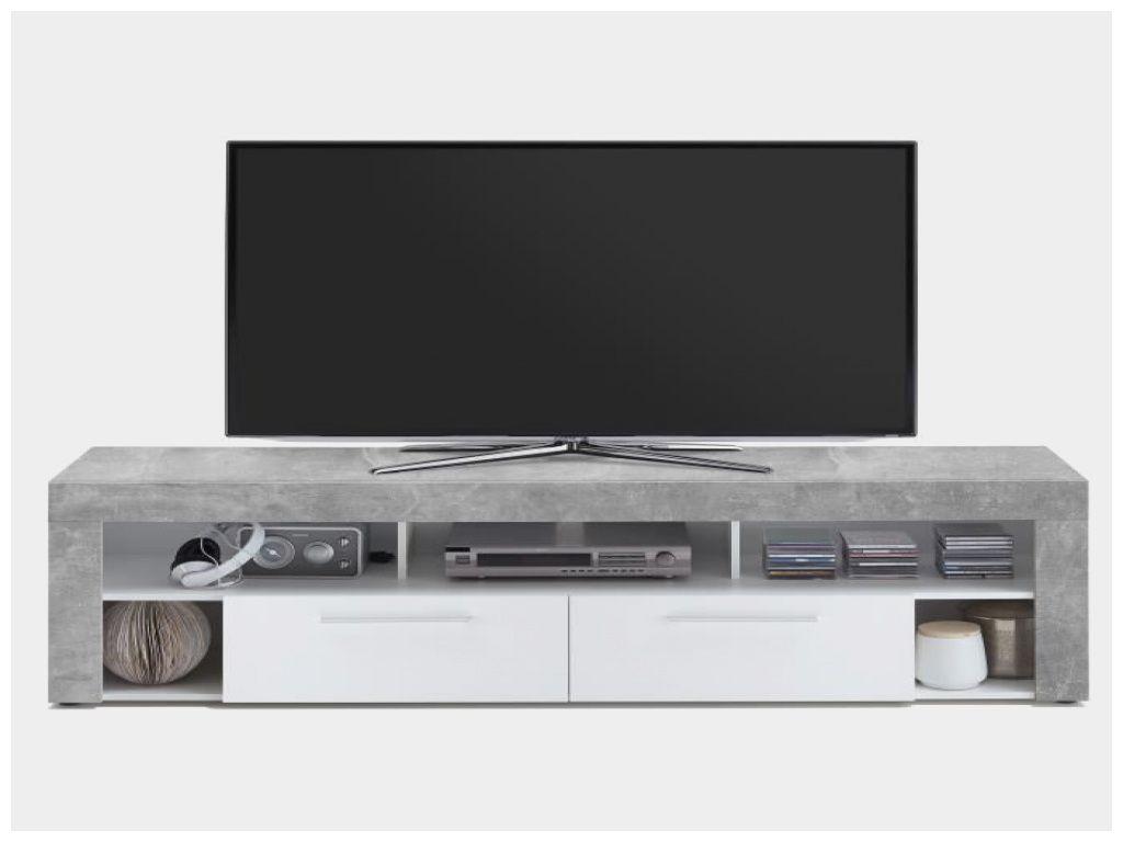 Beau Meuble Tv Blanc Hauteur 50 Cm Dengan Gambar