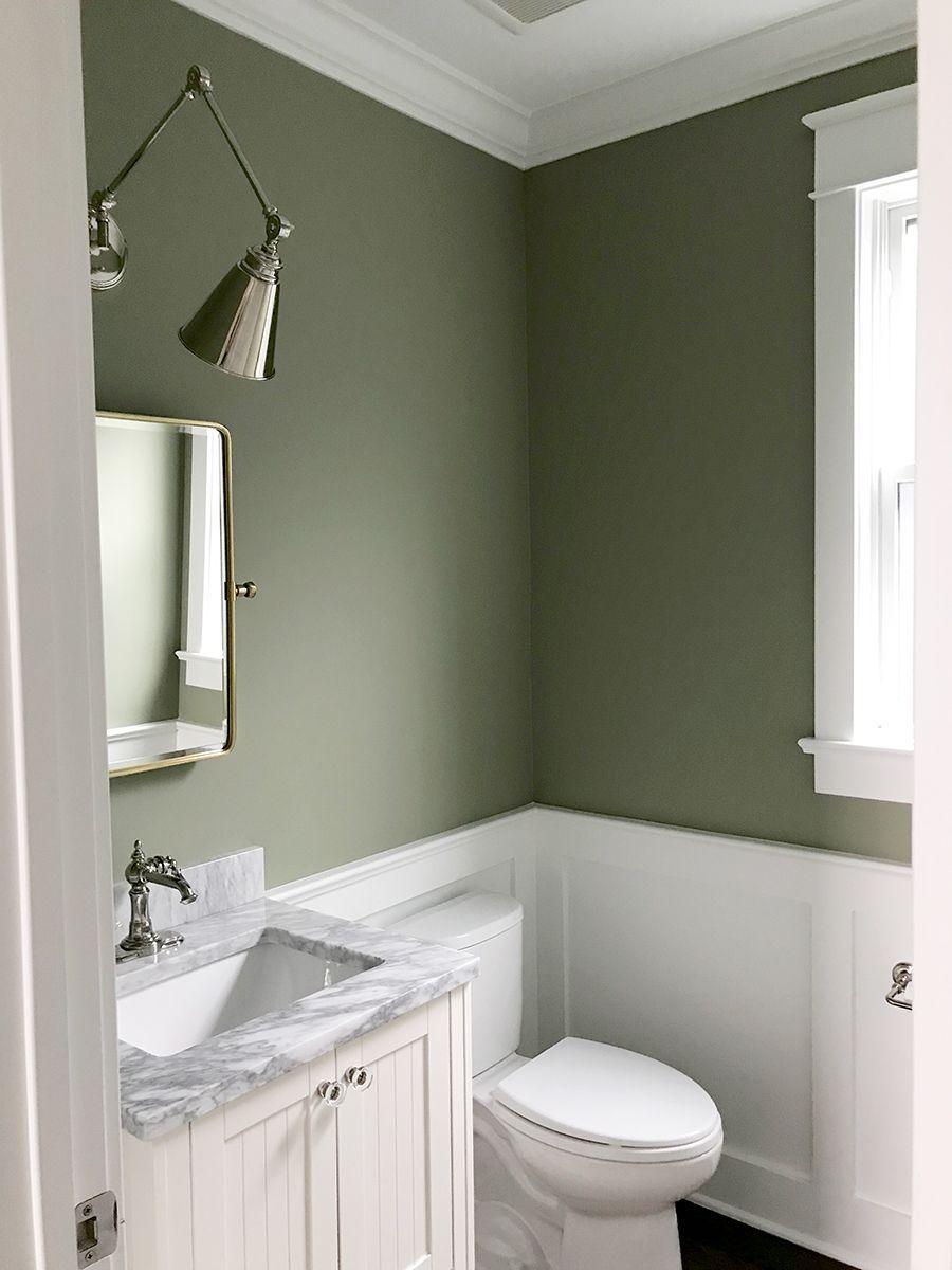 Our Powder Room Painting The Walls Sage Green Green Bathroom Small Bathroom Decor Light Green Bathrooms Sage green bathroom decor