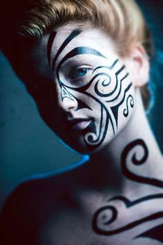Tribal War Paint Male Google Search Tribal Face Paints Body Art Painting Tribal Makeup