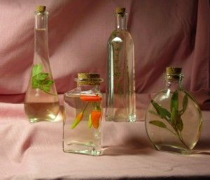 Learn how to use make herbed vinegar. It makes great gifts.
