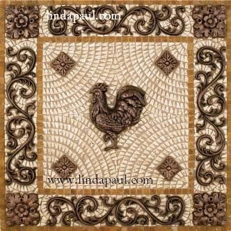 Kitchen Backsplash Medallions rooster kitchen backsplash tile medallions | side dishes