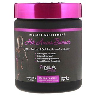 NLA for Her, Her Amino Burner, Intra-Workout BCAA Fat Burner Energy, Mango Passion, lbs…