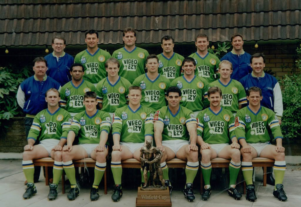 Canberra Raiders 1990 Premiership Side Rugby League Raiders Canberra