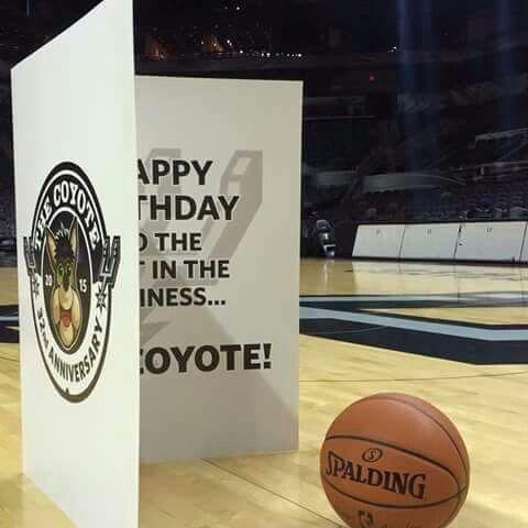 Happy Birthday Spurs Coyote 2015 Anniversary Card Spurs College Team San Antonio Spurs