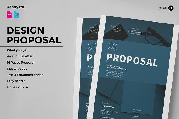 Design Proposal Proposals Brochure Template And Brochures