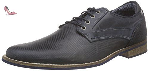 BULLBOXER 571K23793C, Derby homme - Bleu - Blau (B5NA), 44 - Chaussures