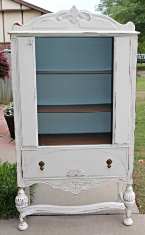 Antique China Hutch Before And After