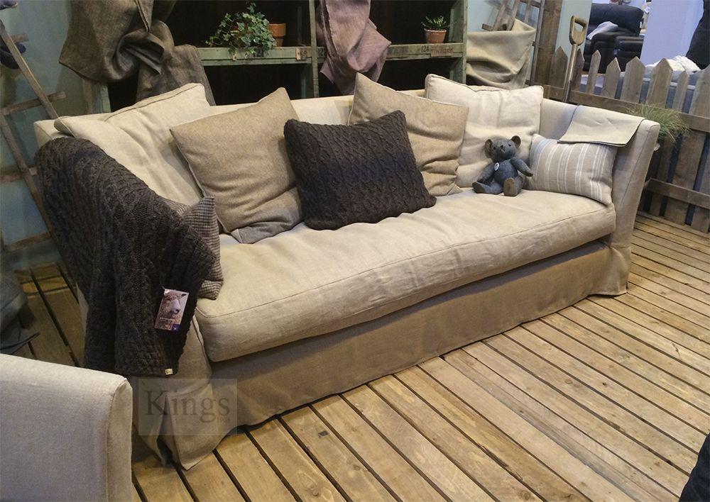 #Tetrad #Upholstery Finlay Sofa In Natural Linen Http://www.kingsinteriors