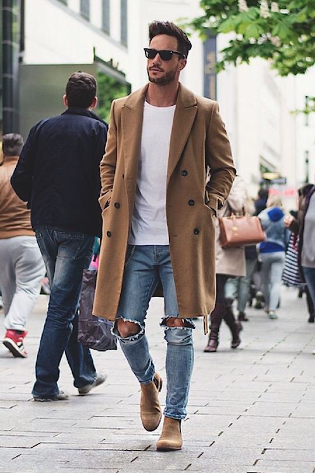 Light Brown Over Coat #men #style | Mostly For Men | Pinterest ...
