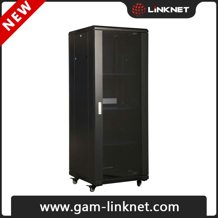 19'' floor standing network cabinet LNS series Front and