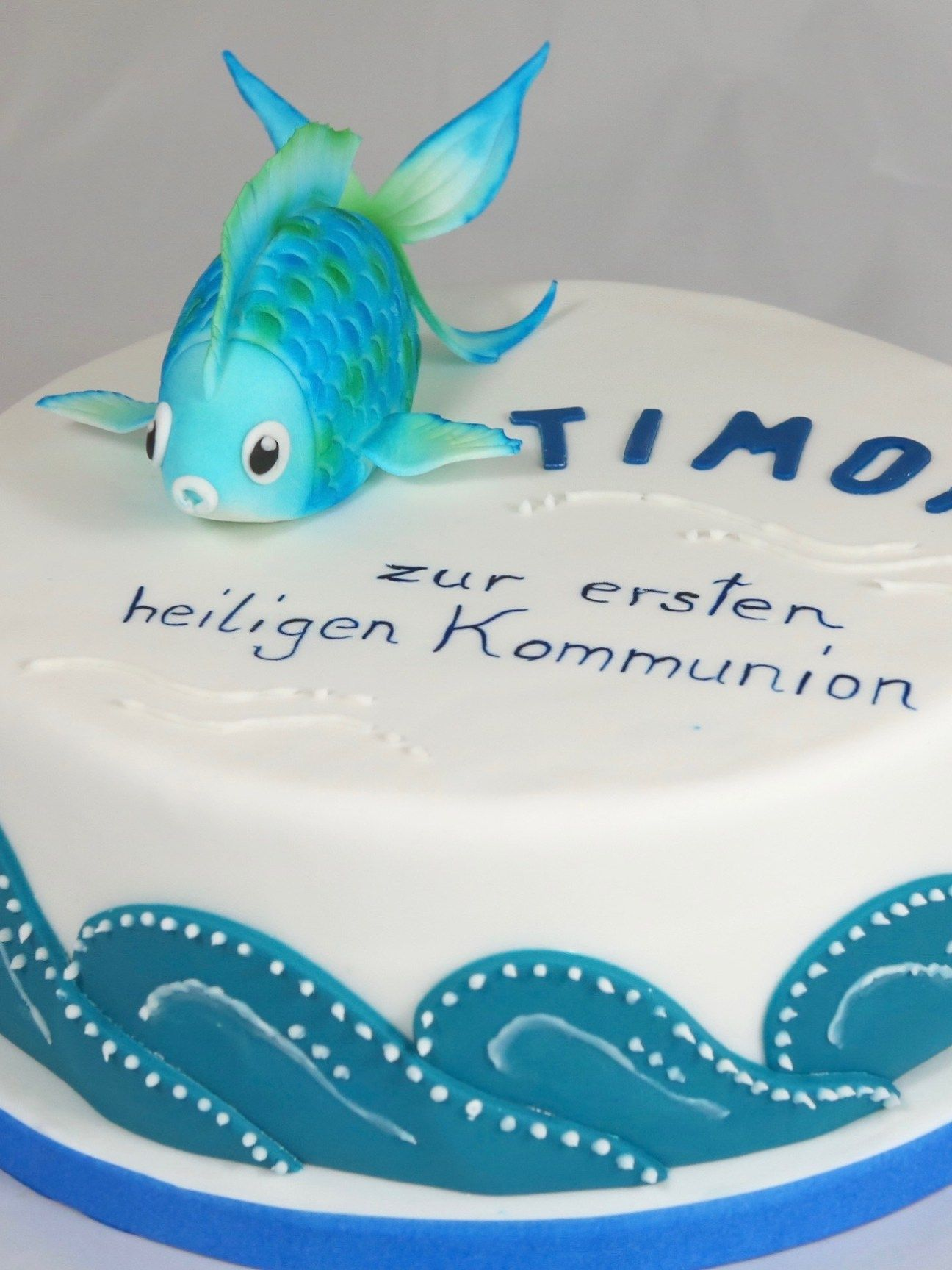 Erstkommunion Torte Fisch Fish Cake First Communion Firmung