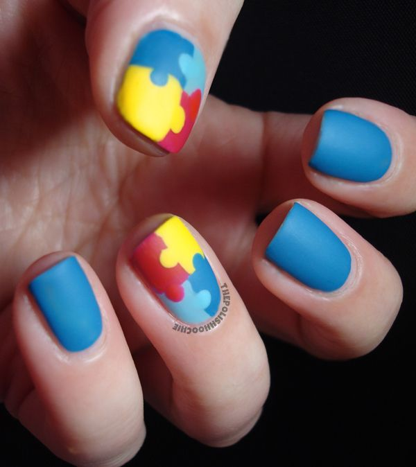 Thepolishhoochie Autism Awareness Nails