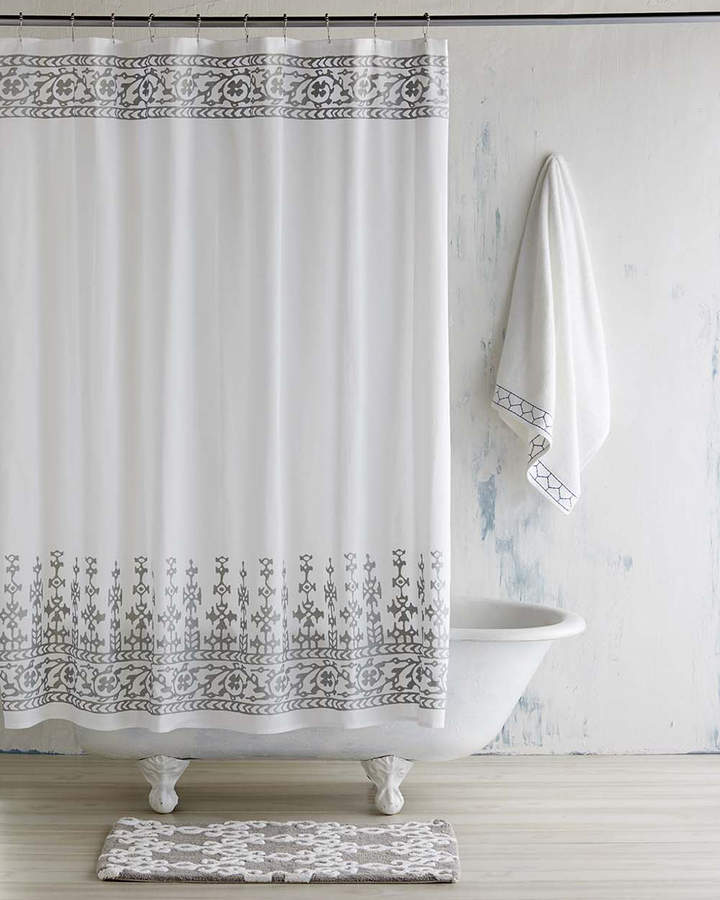 John Robshaw Silver Jit Shower Curtain Pretty Shower Curtains